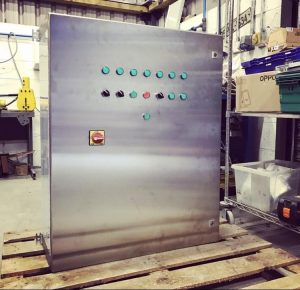 stainless steel motor control panel